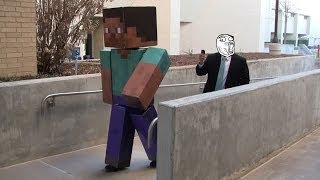 Download Real Life Minecraft Steve Goes to School Video