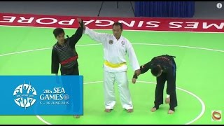 Download Pencak Silat Tanding Category Indonesia vs Singapore (Day 6)   28th SEA Games Singapore 2015 Video