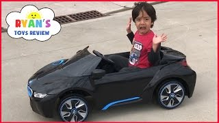 Download Power Wheels Ride on Cars for Kids BMW Battery Powered Super Car 6V Unboxing Playtime Fun Test Drive Video