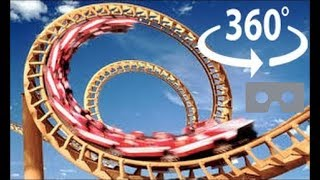 Download Roller Coaster 360 Virtual Reality - The X2 at Six Flags Video