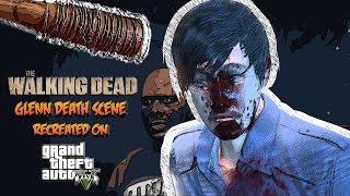 The Walking Dead Negan Kills Abraham GTA 5 Machinima Glenn Death