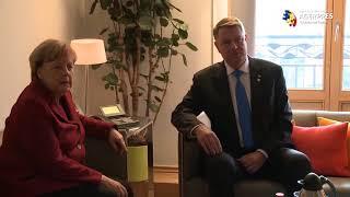 Download Întâlnire Iohannis - Merkel, la Bruxelles Video