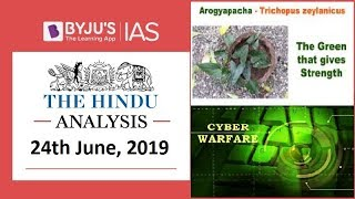 Download 'The Hindu' Analysis for 24th June, 2019 (Current Affairs for UPSC/IAS) Video