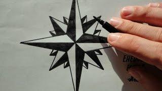 Download ♛Как нарисовать Розу Ветров✵Доля воровская Вор в Законе Тату(Ehedov Elnur)Qanuni ogru tatu Video