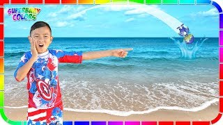 Download I lost Robo Ryan in the Ocean!!! Ryan's World Toys #4 🌊🏊🏄 Video
