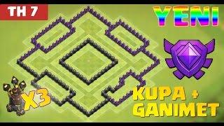 Download Clash of Clans - 7.Seviye Köy Düzeni Savunma (CoC TH7) En İyi Ganimet Düzeni Video