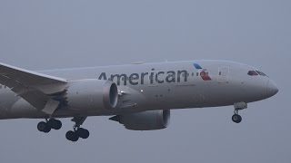 Download American Airlines Boeing 777 787 Landing at NRT 16R Video