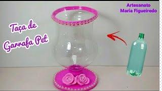 Download Taça feita com GARRAFA PET - Idea with bottle Video