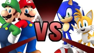 Download MARIO and LUIGI vs SONIC and TAILS! Cartoon Fight Club Episode 3 Video