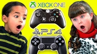 Download Kids React To XBOX ONE vs. PlayStation 4! Video