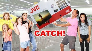 Download I will BUY anything YOU CAN CATCH!! Parent Swap TWIST! Video