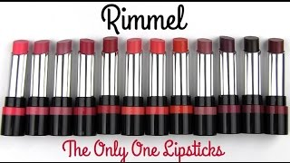 Download Rimmel The Only One Lipsticks: Lip Swatches & Review Video