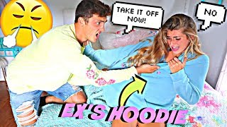 Download Wearing My EX BOYFRIENDS Hoodie To See How My Boyfriend Reacts! *He Ripped it* Video