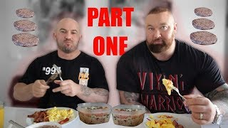 Download Day of eating! Hafthor Bjornsson + Sebastian Oreb Video
