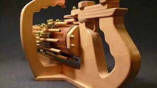 Download Up Close and Personal - RotaryMek-12X Rubber Band Machine Gun Video