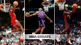 Download Top 10 NBA Slam Dunk Contest Dunks of ALL TIME - Michael Jordan, Vince Carter, Dwight Howard Video