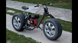 Download Homemade 200cc MOTORCYCLE of CAR TIRES !? / PART 1 Video