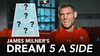 Download Milner picks LEGENDARY strike-partnership! | James Milner's Dream 5-A-Side Video
