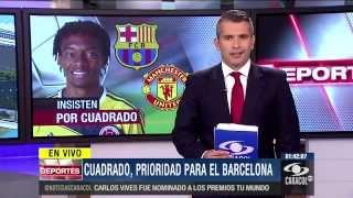 Download Barcelona FC y Mánchester United sueñan con la magia de Juan Guillermo Cuadrado Video