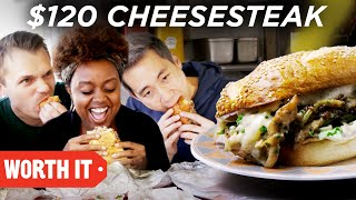 Download $10 Cheesesteak Vs. $120 Cheesesteak Video
