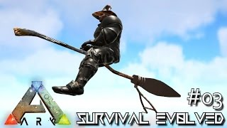 Download ARK: SURVIVAL EVOLVED - NEW FLYING BROOMSTICK & QUETZ TAMING !!! E03 (MODDED ARK MYSTIC ACADEMY) Video