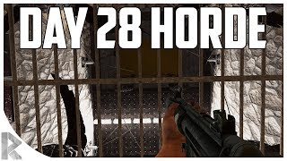 Download Day 28 Horde w/ NEW BASE! - 7DTD Gameplay: WOTW Mod #24 Video