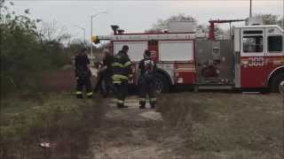 Download FDNY & DSNY RESPONDING & OPERATING TO FREE BRAND NEW FDNY KME ENGINE 309 THAT GOT STUCK IN THE SAND. Video