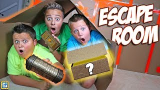 Download 24 Hours Giant Box Fort Mystery Escape Room Surprise! Video