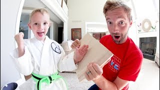 Download FATHER SON KARATE BOARD BREAKING TIME! Video