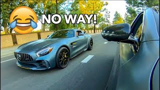 Download MERCEDES AMG GTR OWNER BETS $1000 HIS CAR IS FASTER LOL! Video