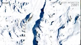 Download Google Timelapse: Farmer Glacier, Antarctica Video
