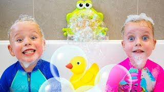 Download Bath Song +More Nursery Rhymes Kids Songs by Gaby and Alex Video