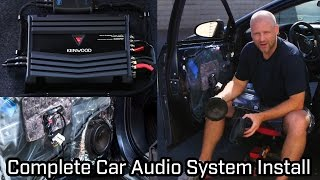 Download Full Car Audio System Installation - Speakers, Subwoofer and Amplifier Video