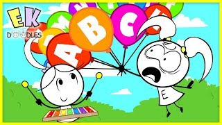 Download Learn the Alphabet with Colored Balloons ! Educational ABC Song Nursery Rhymes for Kids Video