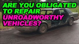 Download Are You Obligated to Repair Unroadworthy Vehicles? Video