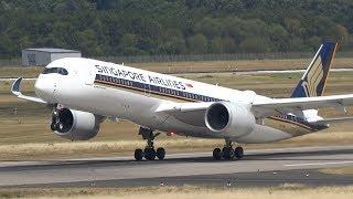 Download +10 Min Düsseldorf Airport Take Offs A340, A330, A350 Video