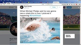Download Phelps flops in man v shark challenge Video