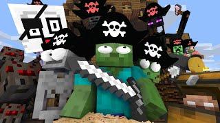 Download Monster School : PIRATE TREASURE HUNT CHALLENGE - Minecraft Animation Video