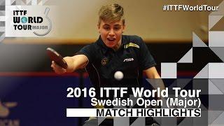 Download 2016 Swedish Open Highlights: Truls Moregard vs Liao Cheng-Ting (U21-R32) Video