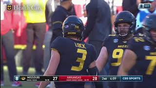 Download HIGHLIGHTS: Mizzou Football Wins the Battle Line Rivalry Against Arkansas, 48-45 Video