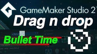 Download Game maker studio 2: drag and drop - bullet time - slow down time (no coding) Video