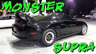 Download 900hp Toyota Supra vs Boosted Coyote Mustangs & ZX-12R Video