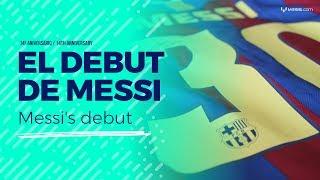 Download El debut de Messi en el Barça Video