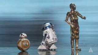 Download Star Wars droids at the Oscars Video