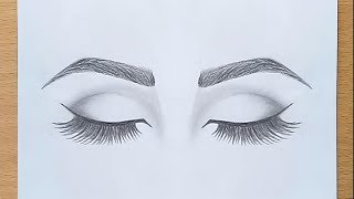 Download How to draw Closed Eyes for beginners.... step by step Video