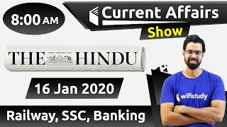 Download 8:00 AM - Daily Current Affairs 2020 by Bhunesh Sir | 16 January 2020 | wifistudy Video