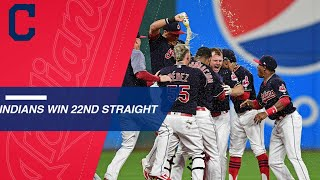 Download Indians rally to win 22nd straight Video