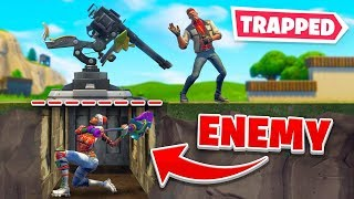 Download We Trapped Enemies *PERMANENTLY* Underground In Fortnite! Video
