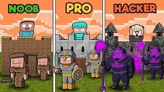 Download Minecraft - NOOB vs PRO vs HACKER - CASTLE WARS in minecraft! Video