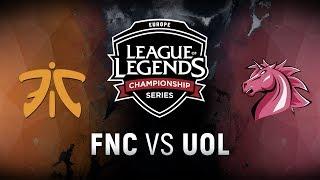 Download FNC vs. UOL - Week 9 Day 2 | EU LCS Summer Split | Fnatic vs. Unicorns of Love (2018) Video